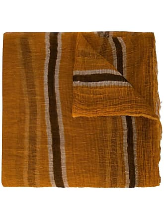 Uma Wang striped scarf - Brown