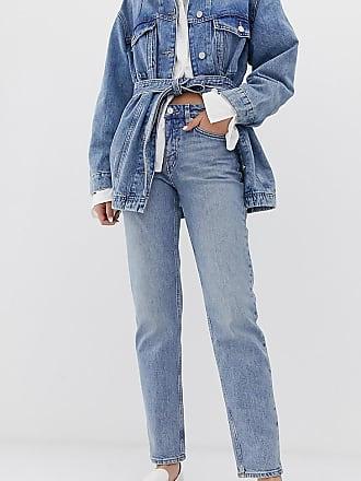 Weekday Bon - Gerade geschnittene Jeans in Hellblau
