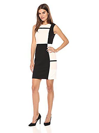 4fa28a9e192 Tommy Hilfiger Womens Block Square Tri Color Scuba Crepe Dress, Powder  Combo, 4