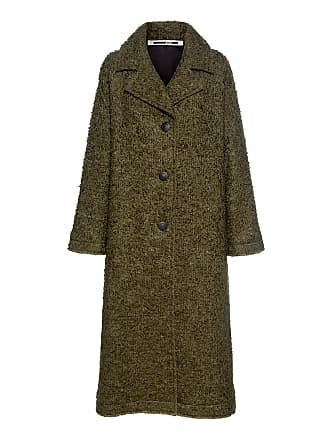 McQ by Alexander McQueen Caban Oversized Wool-blend Bouclé Coat Green