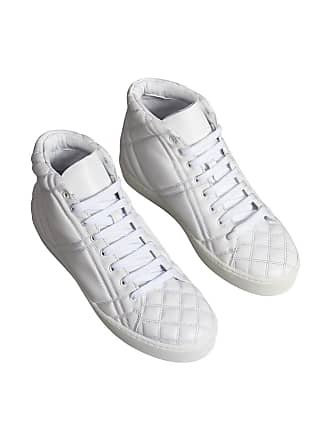 quilted Blanc High Check top Leather Sneakers Burberry pZqRfBwnx