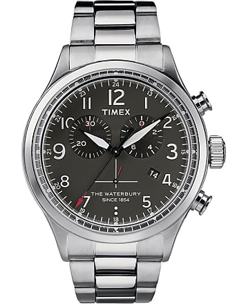 Timex Watch Mens Waterbury Traditional Chronograph 42MM Stainless Steel Steel/stainless Steel/black Item Tw2R38400Vq