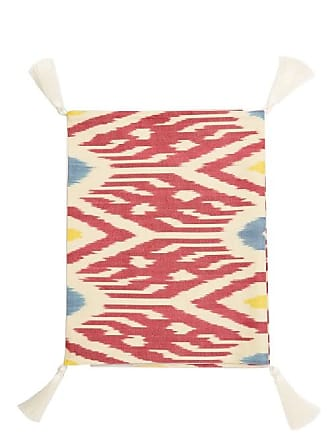 Les-Ottomans Ikat Cotton Table Runner - Red Multi