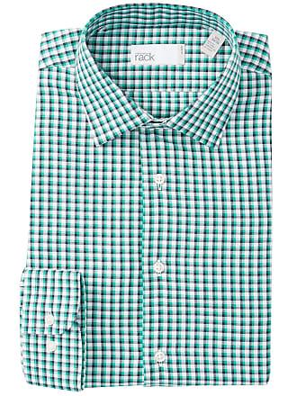 Nordstrom Rack Checkered Trim Fit Dress Shirt