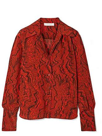 Chloé Printed Silk Crepe De Chine Shirt - Brown