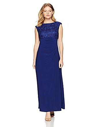21110af765d6 Alex Evenings Womens Long Cowl Back Dress (Petite and Regular), Royal, 14P