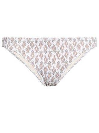 46ff850b0ae13 Eberjey Eberjey Woman Ruched Printed Low-rise Bikini Briefs White Size S
