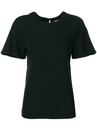 DKNY ruffle-sleeve T-shirt - Black
