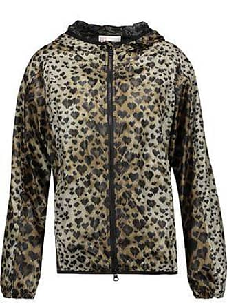 a5f656f0a9d3 Red Valentino Redvalentino Woman Leopard-print Shell Hooded Jacket Animal  Print Size 44