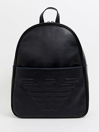 24d34422d2bd Emporio Armani Sac à dos avec grand logo aigle en relief - Noir - Noir