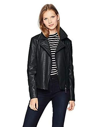 A|X Armani Exchange Womens Eco Leather Jacket, Black, XL