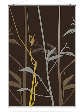 Inhabit Tall Grass Canvas Wall Art Charcoal and Olive - TGRSCCOL_1616C