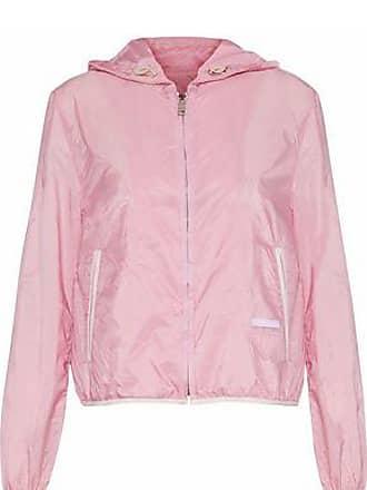 Prada Prada Woman Shell Hooded Jacket Baby Pink Size 40