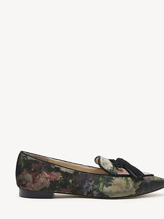 261aced43a3 Sole Society Womens Hadlee Tassel Loafers Black Floral Size 5 Suede From Sole  Society