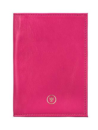 Maxwell Scott Maxwell Scott - Luxury Hot Pink Nappa Leather Passport Wallet