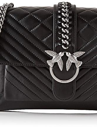 Pinko Womens Big Soft Mix Messenger Bag, Black (Nero Limousine), 5x22x29.2 Centimeters (W x H x L)