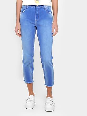 9834badf2 Colcci Calça Jeans Girlfriend Colcci Desfiada Cintura Média Feminina -  Feminino
