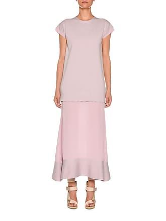 5a16ca69192 ... Button-Front Wool-Cady Kaftan Maxi Dress. Delivery  free. Agnona  Crewneck Cap-Sleeve Wool   Crepe de Chine Dress