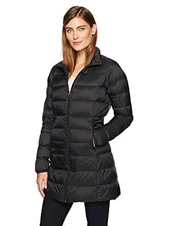 Amazon Essentials Womens Lightweight Water-Resistant Packable Down Coat, Black Caviar, X-Small