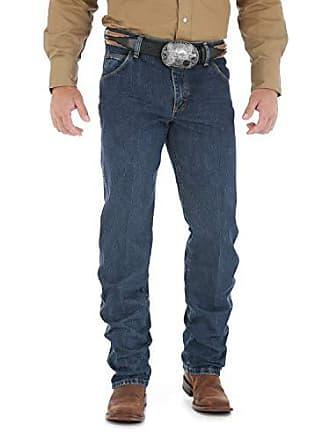 Wrangler Mens Premium Performance Cowboy Cut Regular Fit Jean, Worn Dark, 28W x 36L