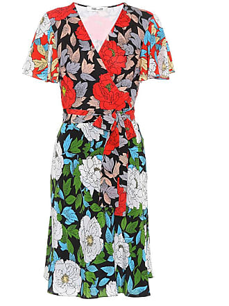 Diane Von Fürstenberg Floral-printed silk wrap dress