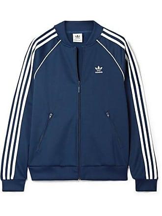 adidas Originals Superstar Striped Satin-jersey Track Jacket - Navy