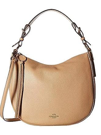 ea14677f316c8 Coach Polished Pebble Leather Sutton Hobo (Beechwood Gold) Hobo Handbags