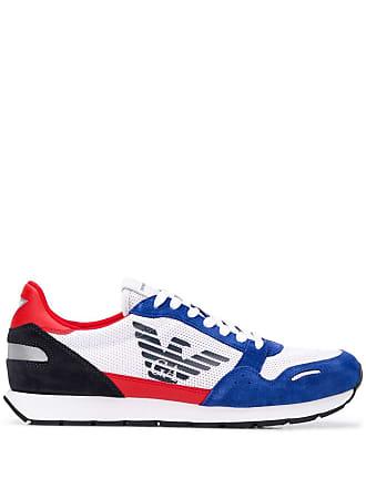 Emporio Armani colour block sneakers - White