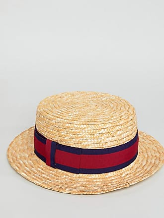 fadbbedeaff62 Asos ASOS straw boater in natural with band detail - Beige