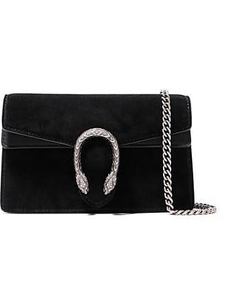 991e3d3e1b1 Gucci Dionysus Super Mini Suede And Leather Shoulder Bag - Black