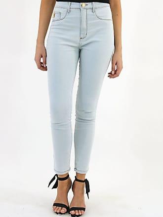 Lança Perfume Calça Jeans Lança Perfume Skinny Pespontos Azul