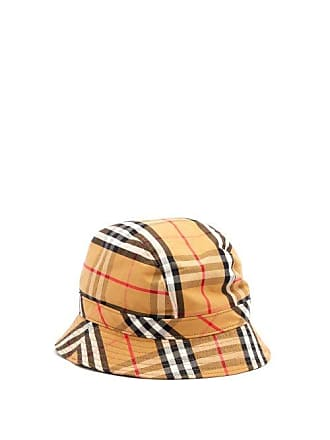 539a0f41b7f3c Burberry Vintage Check Cotton Bucket Hat - Mens - Tan Multi