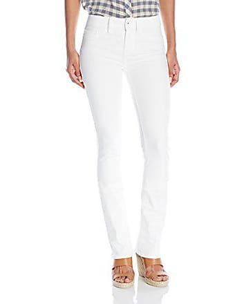 Yummie Tummie Modern Mid Rise Slimming Boot Cut Denim Jeans, White, 33