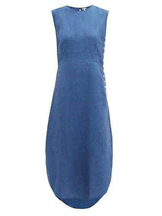 Belize Lila Buttoned Linen Dress - Womens - Denim