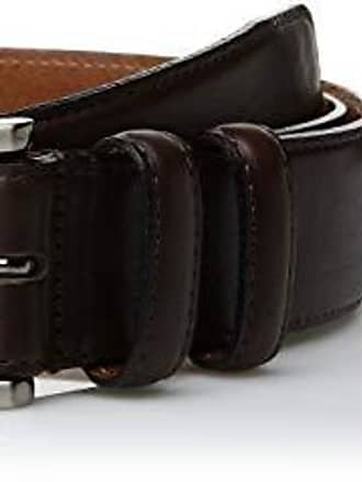 Trafalgar Terry Leather Black Dress Belt