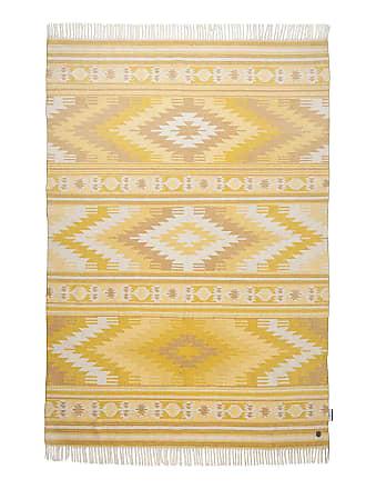 Tom Tailor Teppich Vitage Kelim II Gelb/Creme Rechteckig 160x230 cm (BxT) Skandi Mischgewebe
