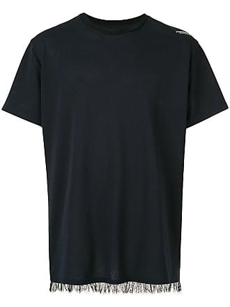 Yoshiokubo fringed T-shirt - Black