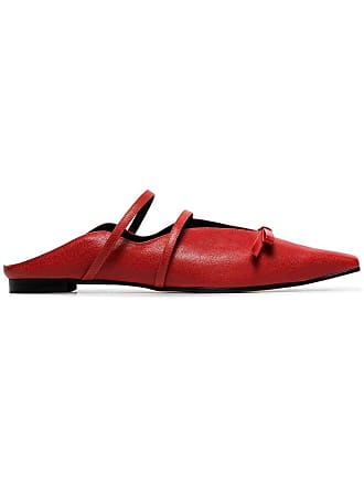 Yuul Yie red Abel bow embellished slippers