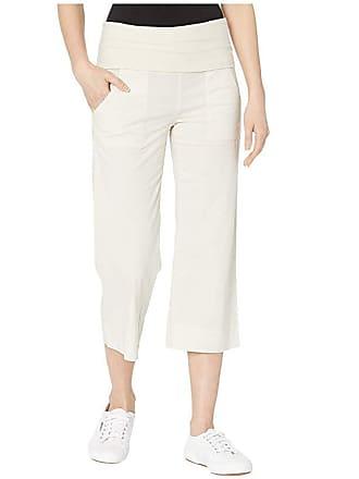 Xcvi Wearables Four-Pocket Fold-Over Crop Stretch Poplin Pants (Tapioca Pigment) Womens Casual Pants