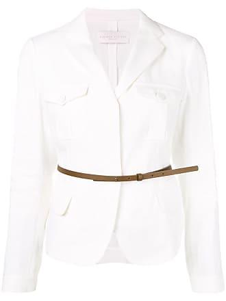 Fabiana Filippi belted waist blazer - White