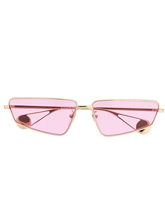 Gucci rectangle frame sunglasses - Gold