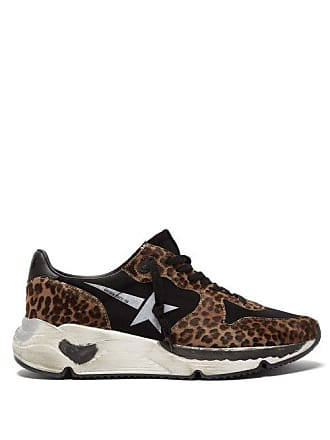 1a46990c6868 Golden Goose Running Sole Leopard Print Trainers - Womens - Leopard