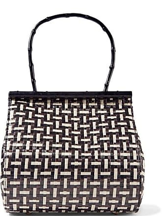 Cult Gaia Via Woven Straw And Bamboo Tote - Black
