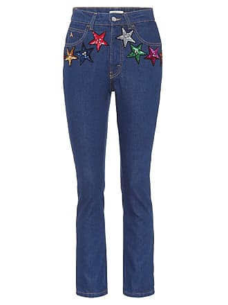 Attico Attico sequined high-waisted jeans