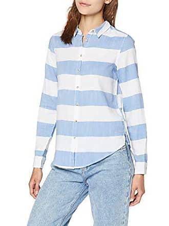 7e78b76d36 Springfield 5.T.Camisa Rayas Horizont Camiseta, Mujer, Blanco (Blanco 99