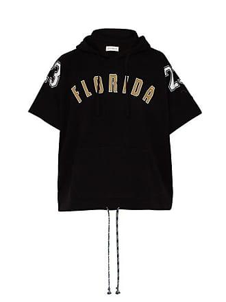 Faith Connexion Florida Print Cotton Hooded Sweatshirt - Mens - Black