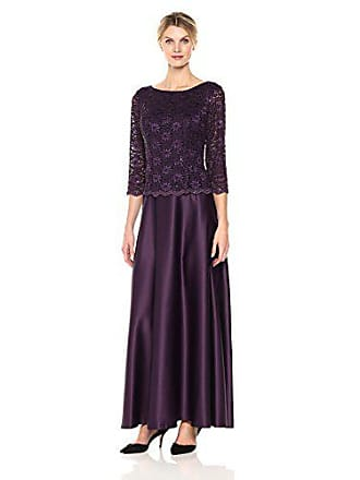 cded3b718cf56 Alex Evenings Womens Long Mock Dress with Full Skirt (Petite and Regular  Sizes),