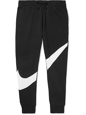 120652be1 Nike Slim-fit Tapered Panelled Loopback Cotton-blend Jersey Sweatpants -  Black