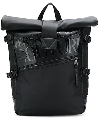 Versace Jeans Couture roll top backpack - Preto