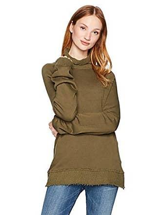 Pam & Gela Womens Fleece Turtleneck, Olive, M